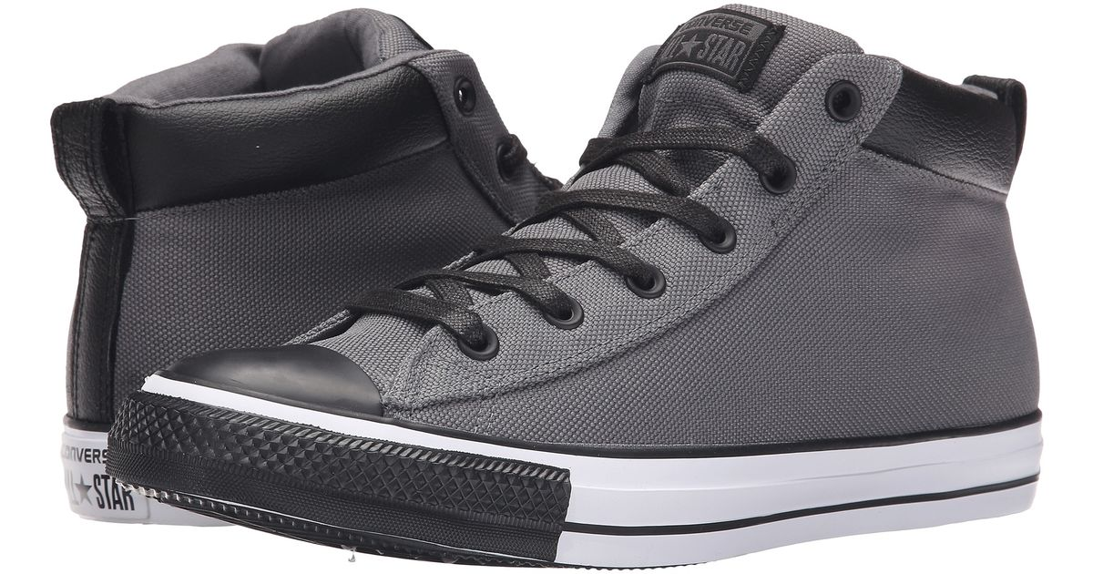 fbee658da984 Lyst - Converse Chuck Taylor® All Star® Street Nylon Leather Hi in Gray for  Men
