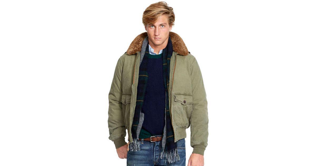 e4081258cae Lyst - Polo Ralph Lauren B10 Bomber Jacket in Green for Men