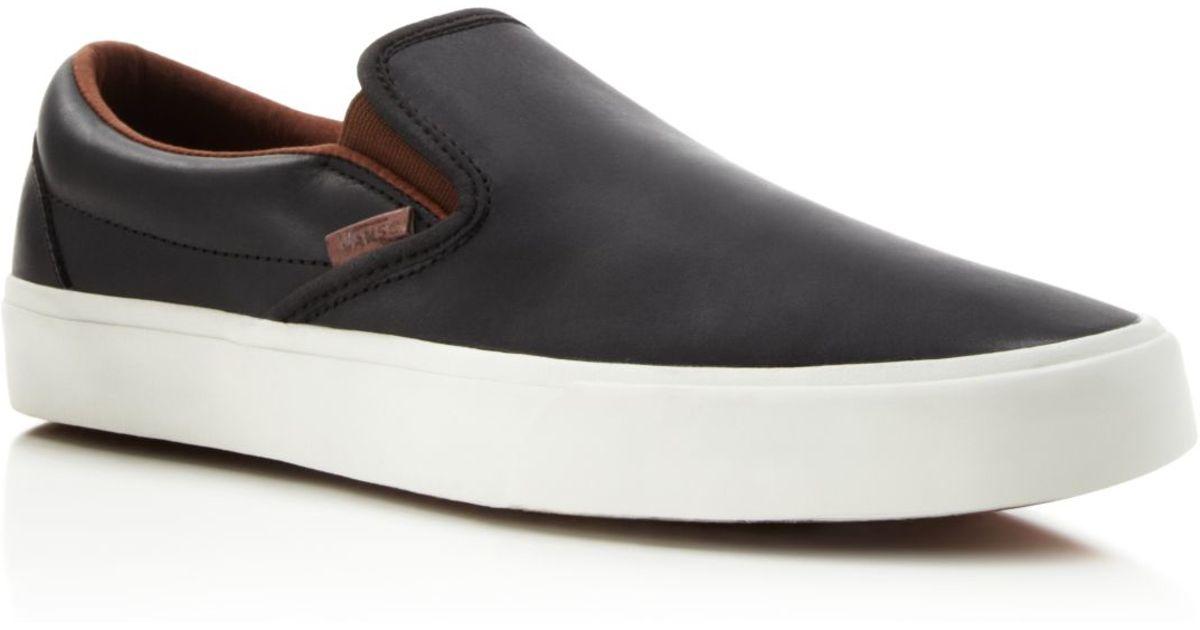 1bdfb05723 Lyst - Vans Classic Slip-on Ca Veggie Leather Sneakers in Black for Men