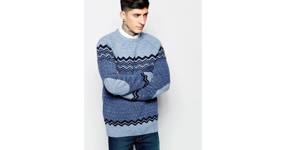 Fair Isle Pattern Jumper] Hand Knit Fair Isle Sweater Jumper ...