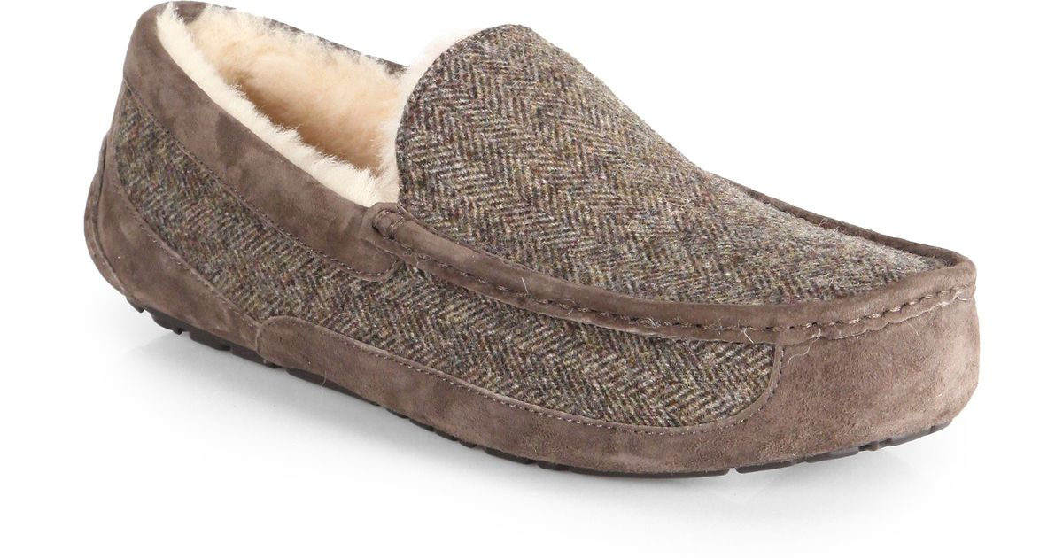 9c9e8fdde369 Lyst - UGG Ascot Tweed Slippers in Natural for Men