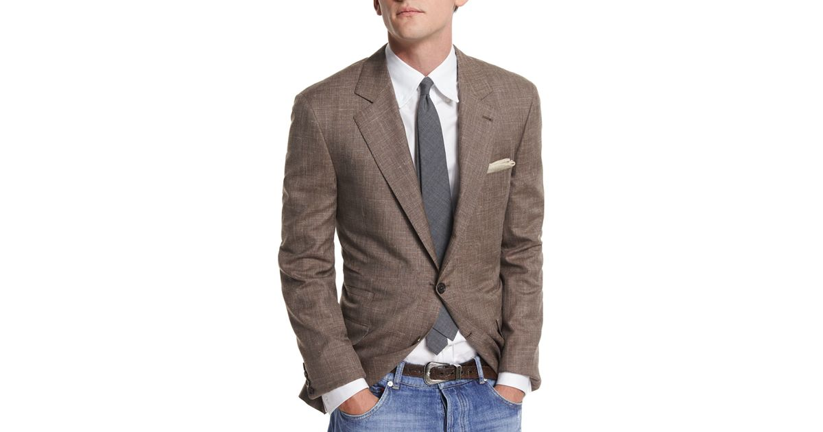 866a5cacb50 Lyst - Brunello Cucinelli Flamed Wool-blend Sport Coat in Brown for Men