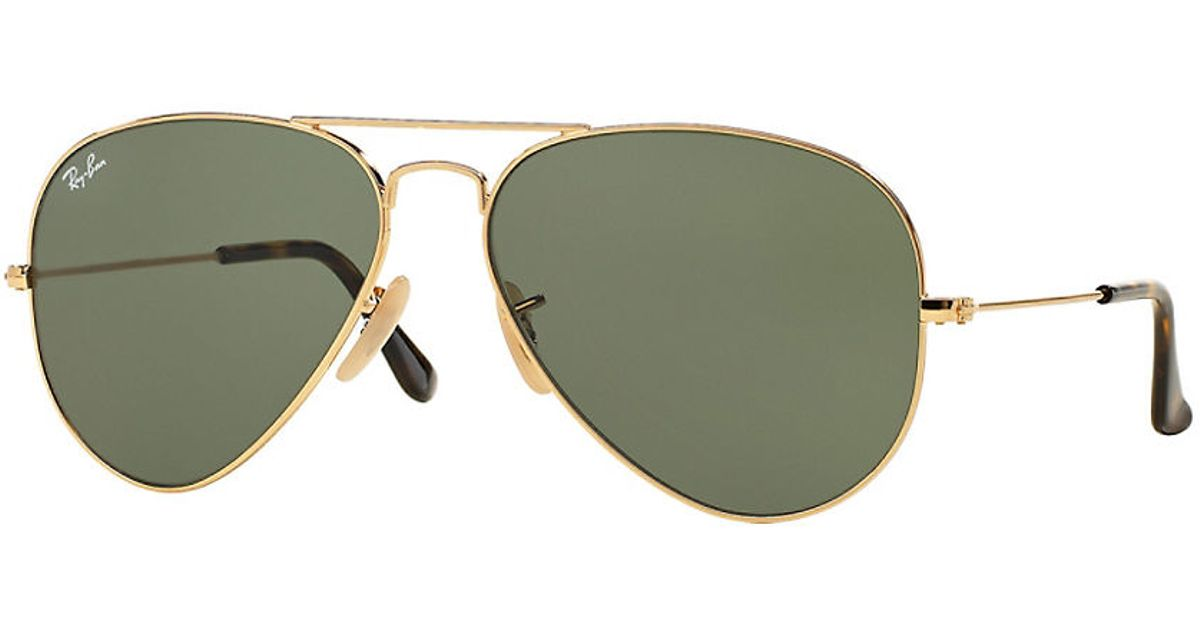 c7e3f235186 ... gold rim ray ban aviator