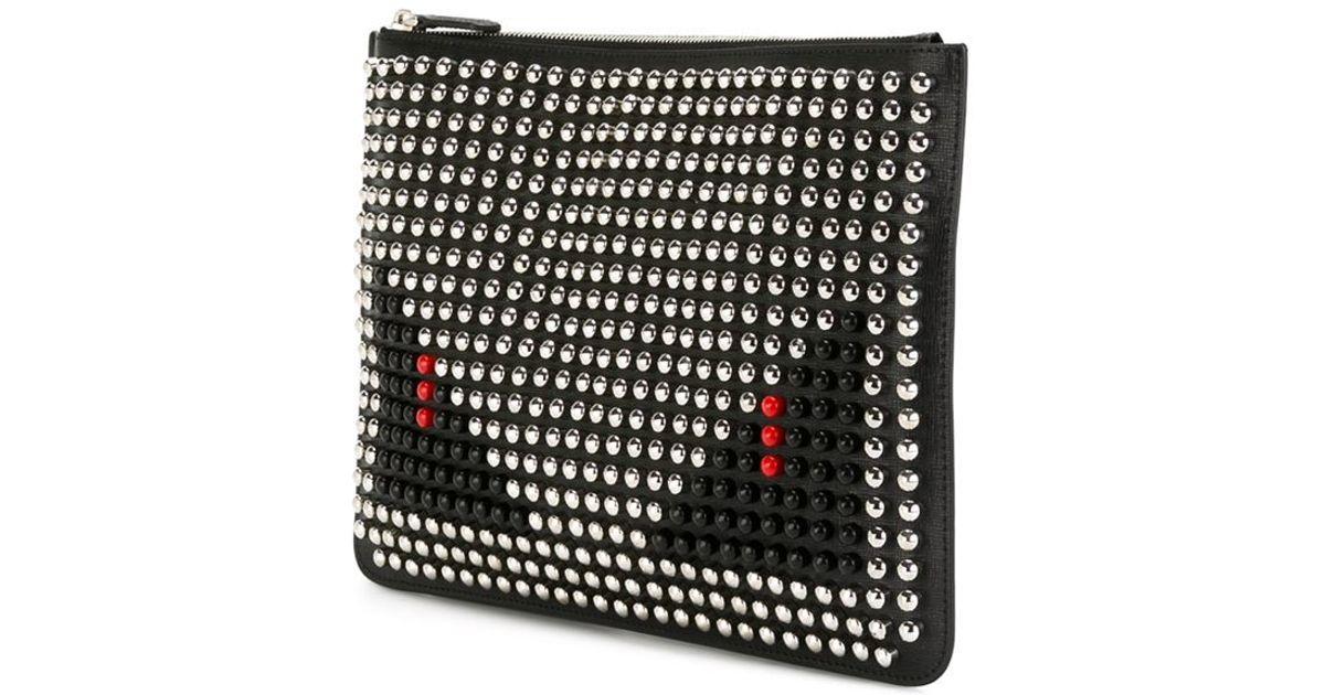 Fendi Bag Bugs Clutch in Black for Men - Lyst 4bd12543e8a59