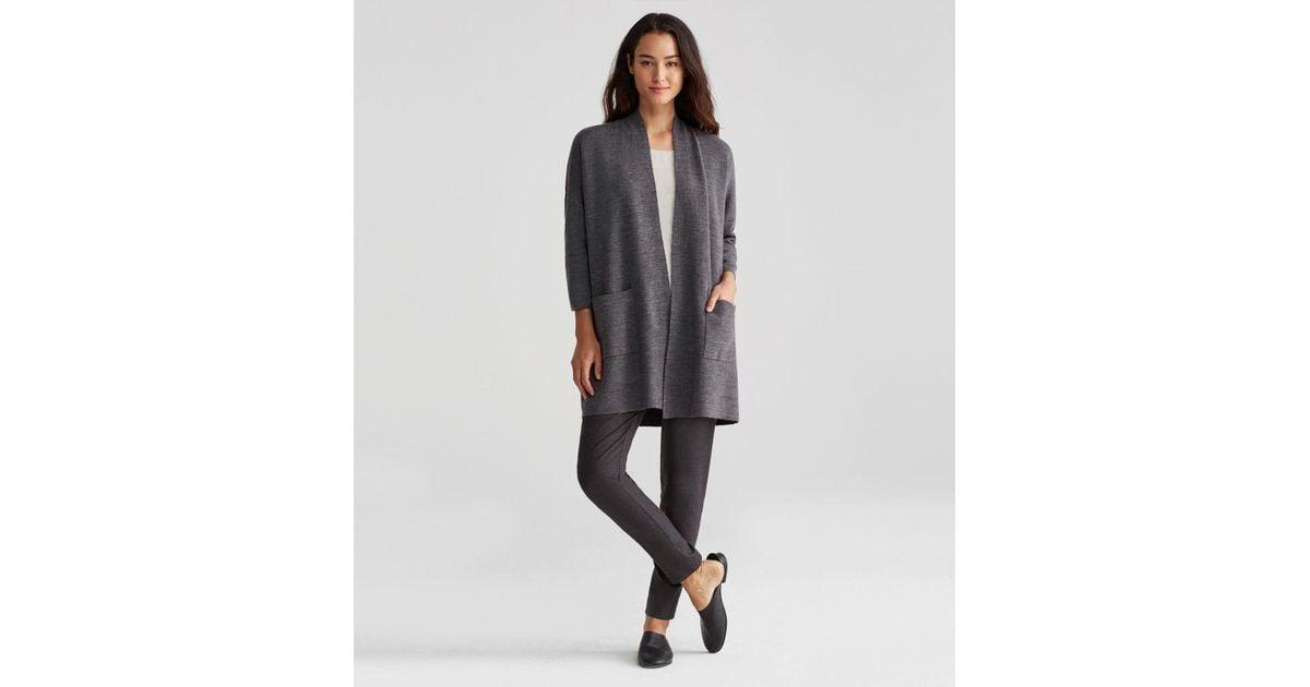 Eileen fisher Merino Organic Cotton Cashmere Kimono Cardigan in ...