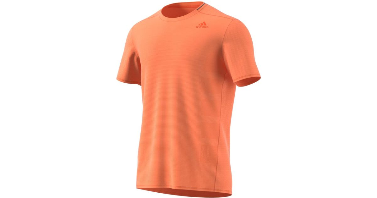 e0537067ba482 Lyst - Adidas Supernova Short Sleeve T-shirt in Orange for Men