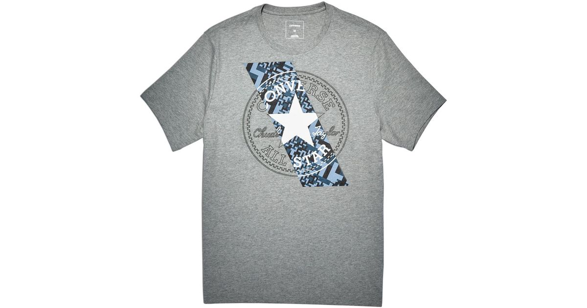 1d3db0e85808 Converse Chuckpatch Contrast Slash T-shirt in Blue for Men - Lyst