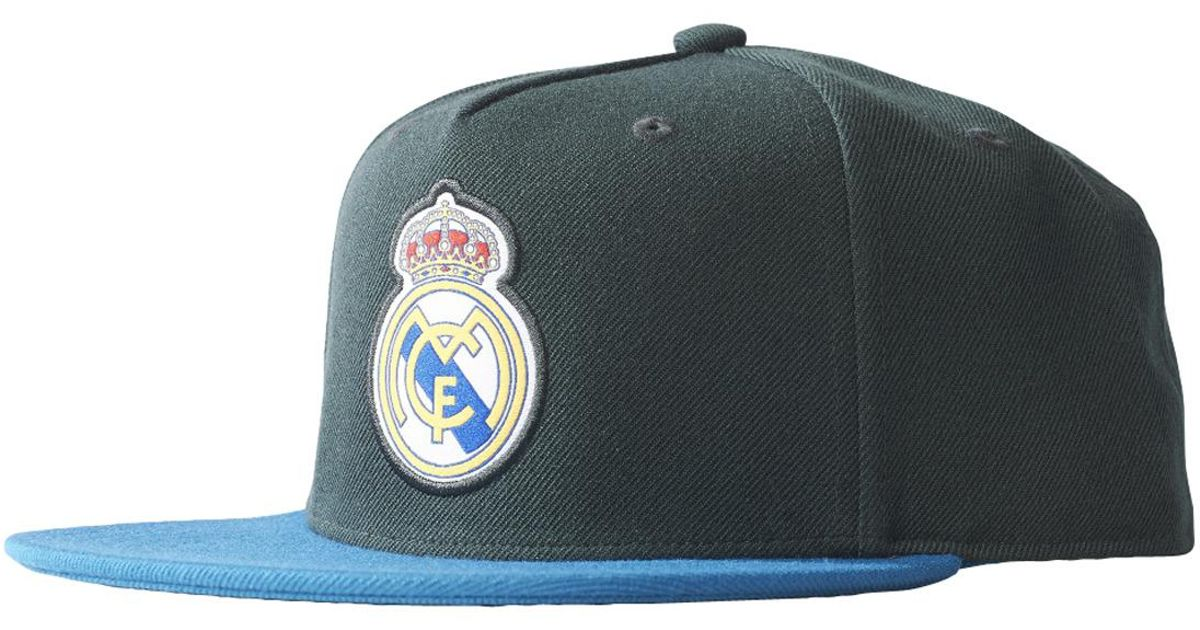 Lyst - adidas Real Madrid Cf Flat Cap in Blue for Men bf14a8f8771
