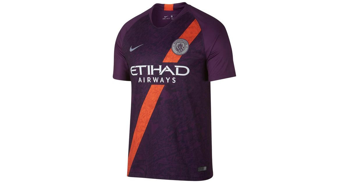 innovative design 0acba f469e Nike - Purple Manchester City Fc 2018-2019 Breathe Stadium Third Kit Shirt  for Men - Lyst