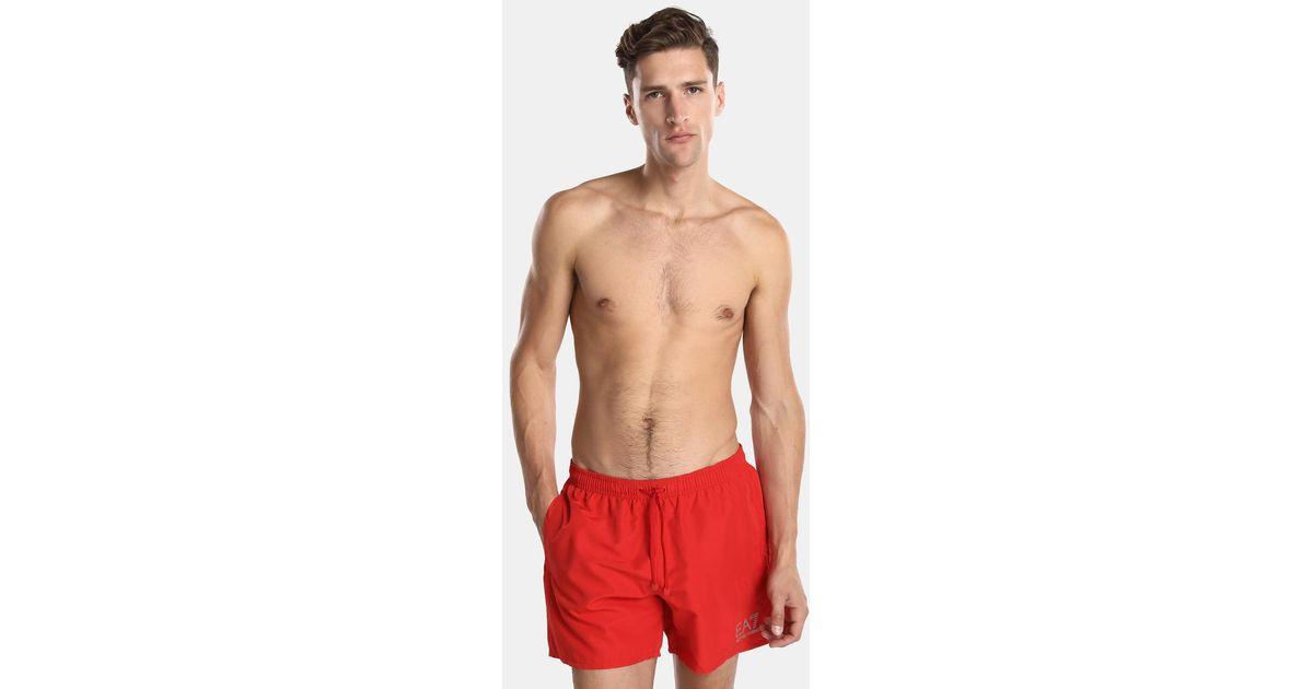 Red Ea7 For Plain Trunks Men Swim Lyst qSzMVUpG