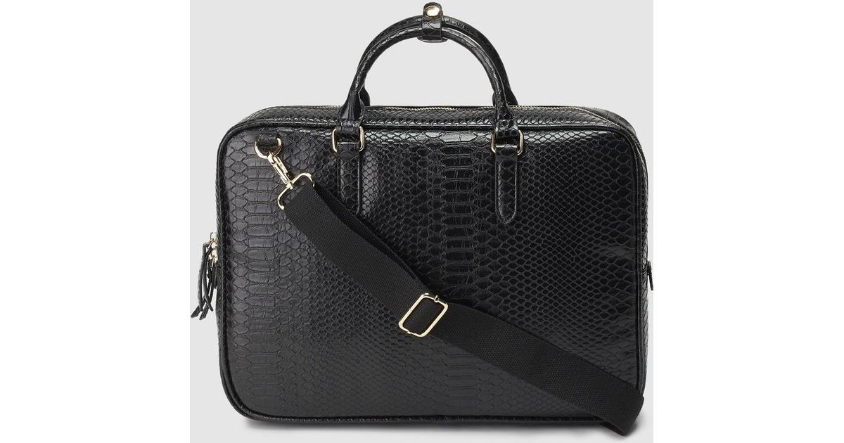 d434071605 Lyst - El Corte Inglés Black Portfolio With Long Detachable Strap in Black