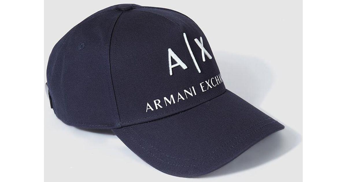 Classic For In Exchange Men Armani Lyst Blue Navy Mens Cap SpMzUV