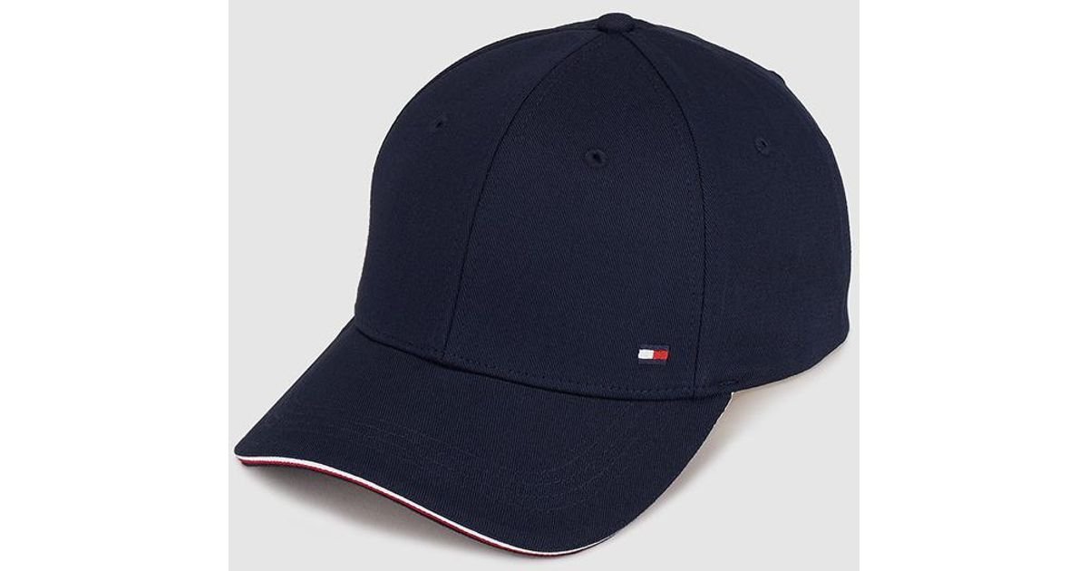 f8a994484c1aef Tommy Hilfiger Mens Classic Navy Blue Cap in Blue for Men - Lyst