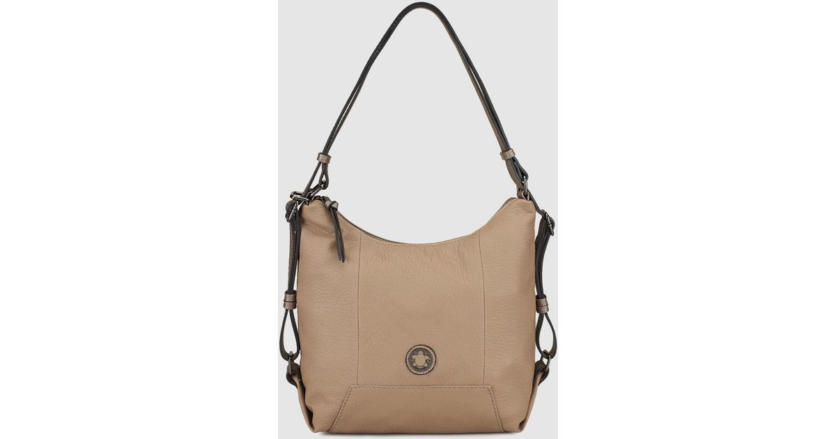 8ef32ed4f Caminatta Taupe Hobo Bag With Adjustable Backpack Straps in Brown - Lyst