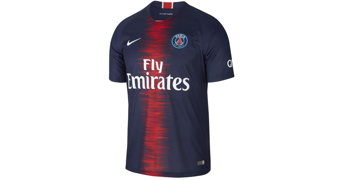c6f0e20256f5d Nike Paris Saint-germain Psg 2018-2019 Breathe Stadium Home Strip Shirt in  Blue for Men - Save 47% - Lyst