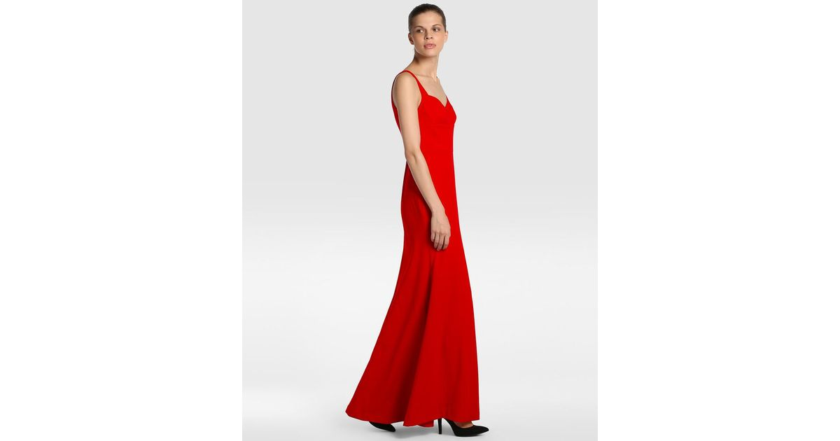 Plain Red Formal Dress