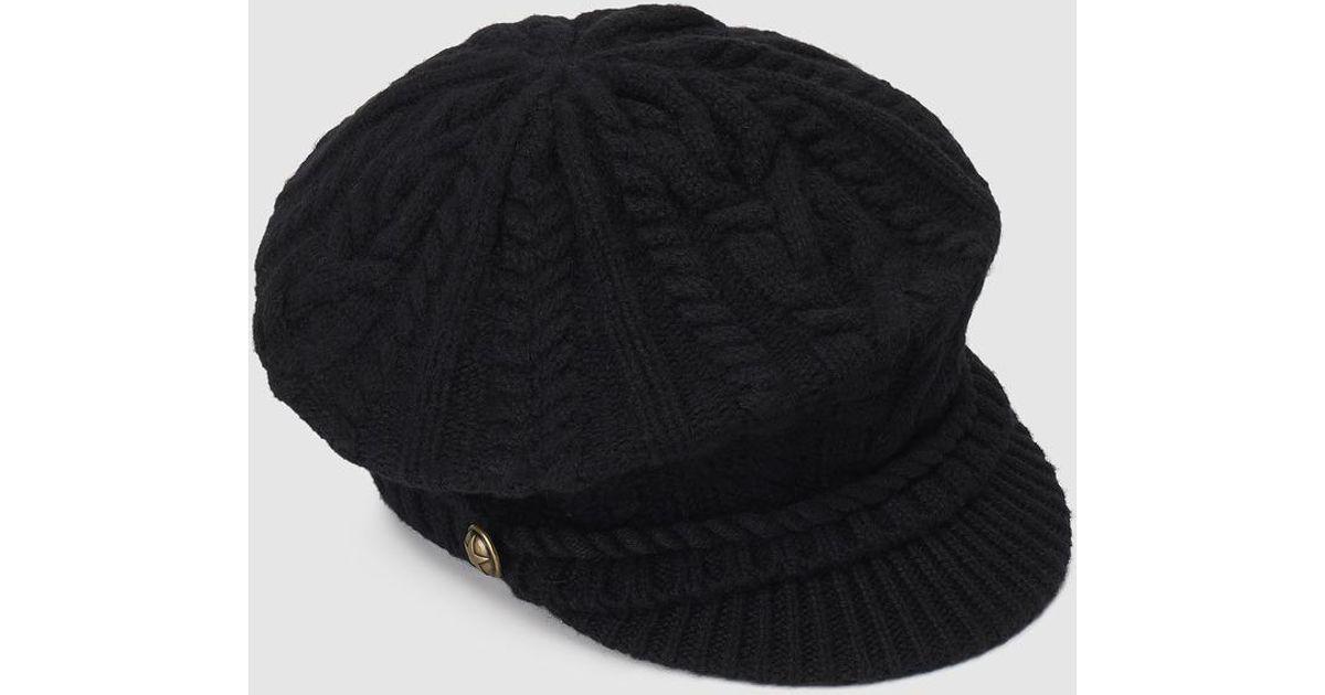 5772f4b12 Lauren by Ralph Lauren - Black Wool Beret With Visor - Lyst