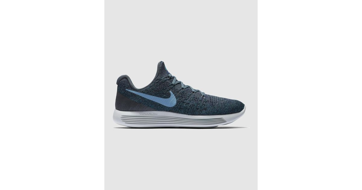 ee0230d3a10e Nike Lunarepic Low Flyknit 2 Running Shoes in Blue for Men - Lyst