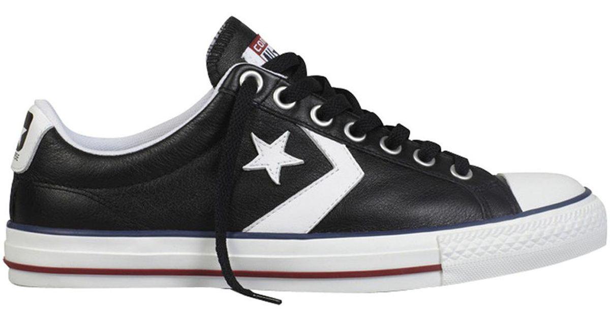7f423e815ba8 denmark converse star player ev ox unisex casual trainers in black for men  lyst e0832 5d5b1