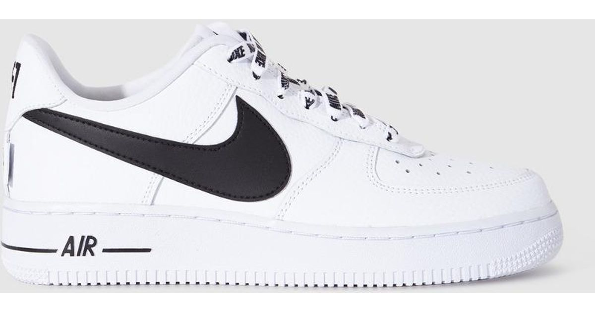 13ad7cc20055 Lyst - Nike Air Force 1 07 Lv8 White Trainers With Logo in White