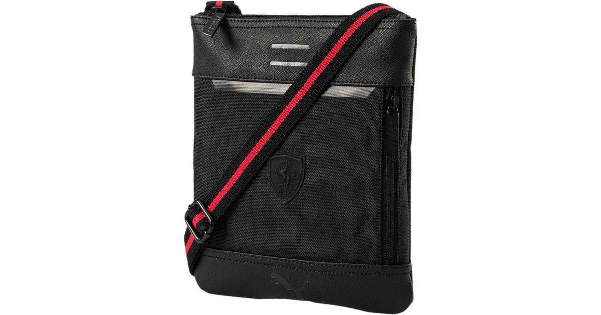 Lyst - PUMA Ferrari Ls Flat Portable Bag in Black for Men 29a09fabf6dc9