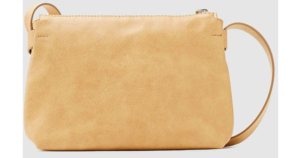 927e0567842188 Esprit Small Camel Crossbody Bag With Zip in Natural - Lyst