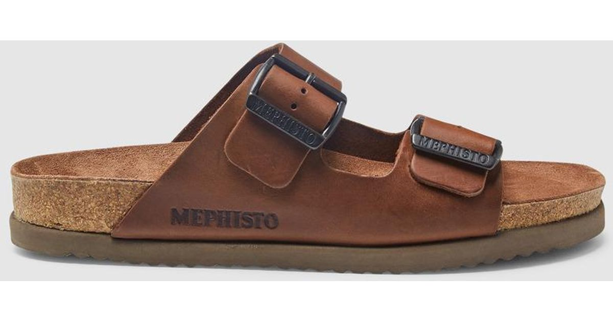 For Brown Lyst Mephisto Leather In Sandals Men 8PkNn0wOX