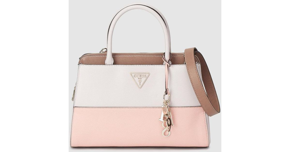 Lyst - Guess Two-tone Pink And Cream Handbag