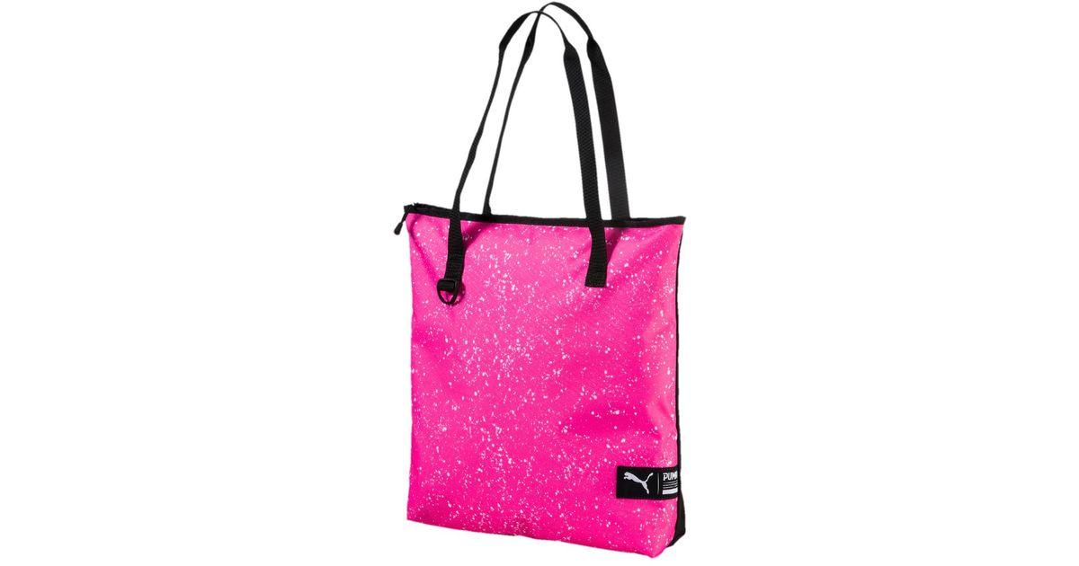 PUMA - Pink Fundamentals Shopper Ii Bag - Lyst