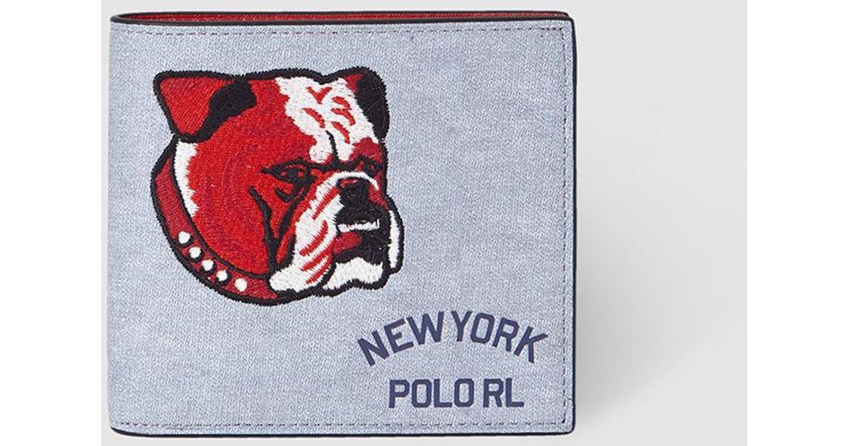 Polo Ralph Lauren Bulldog Grey Patchwork Wallet in Gray for Men - Lyst b2153fe61941