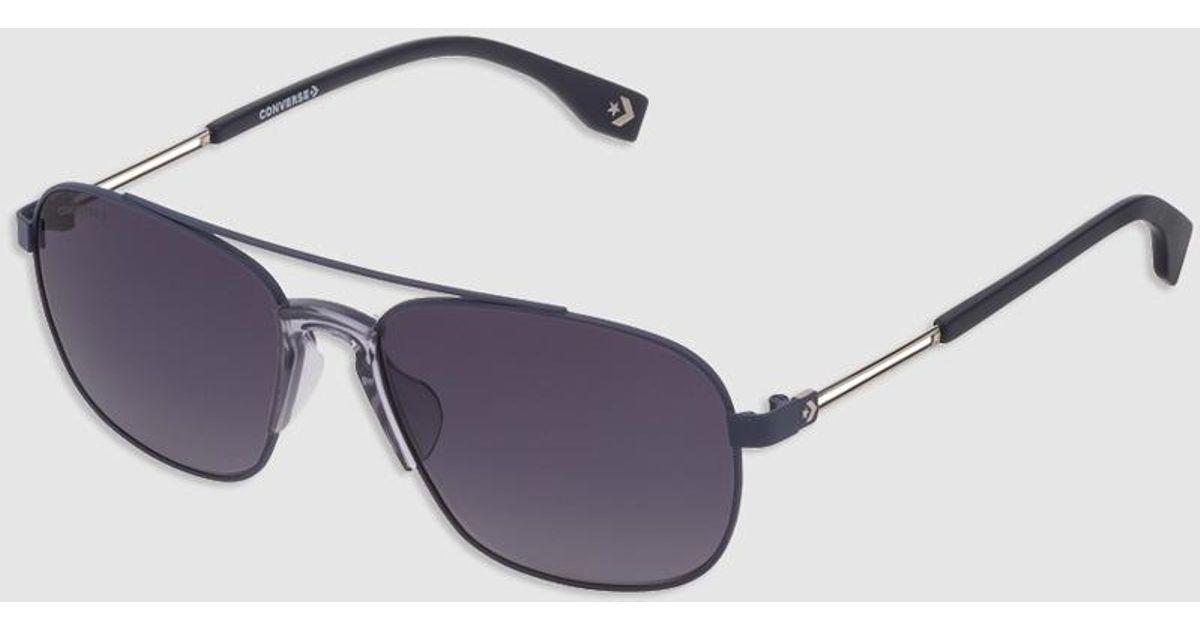 4bc0dc99e6185 Lyst - Converse Rectangular Blue Metal Sunglasses in Blue for Men