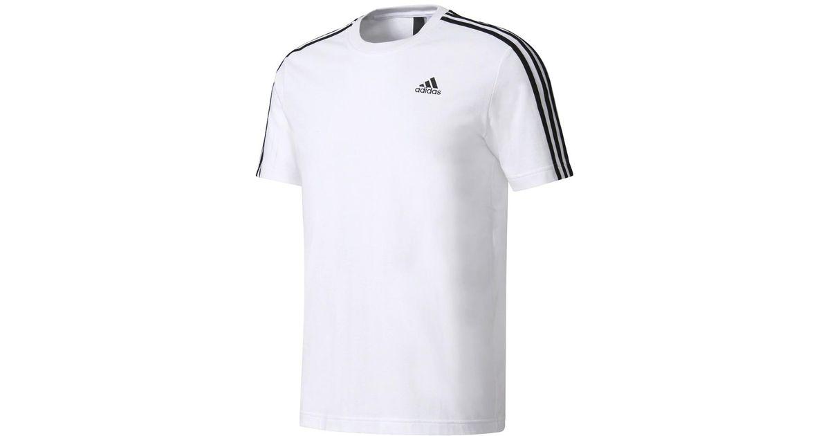 Adidas Originals Black Ess 3s T shirt for Men Lyst
