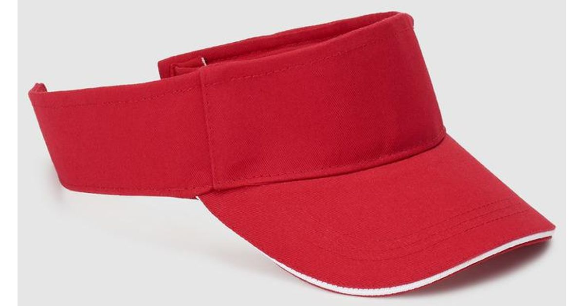 1c77b672 El Corte Inglés Plain Red Cotton Visor With Adhesive Strap in Red - Lyst