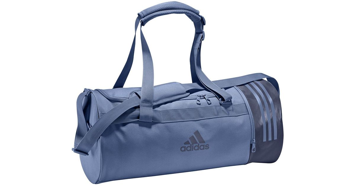 6193fce9905 adidas Convertible 3 Stripes Duffel M Sports Bag in Blue - Lyst