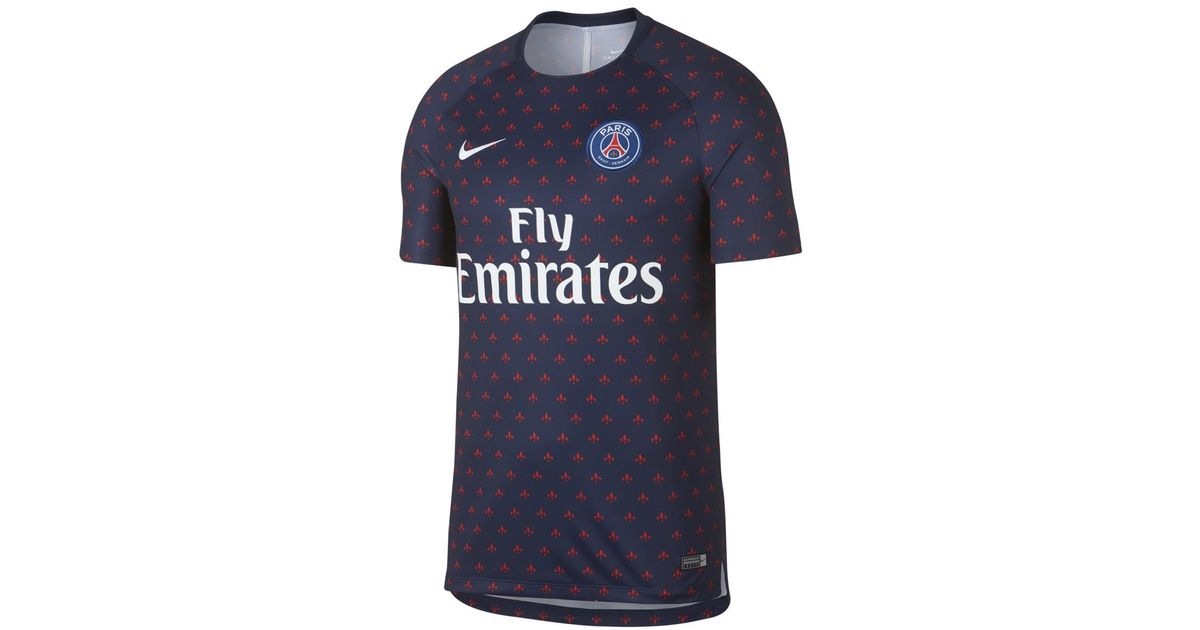 2292395a6ef5ab Nike Paris Saint-germain Psg 2018-2019 Dry Squad Training Shirt in Blue for  Men - Lyst