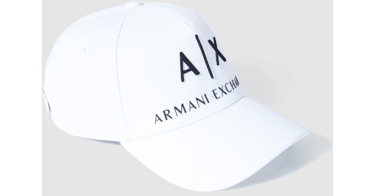 Lyst - Armani Exchange Mens Classic White Cap in White for Men 25d3b7b661a
