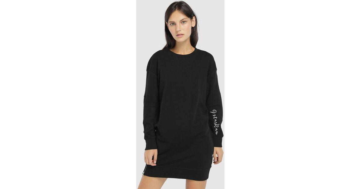 5c48f860baa Lyst - G-Star RAW Sweater Dress With Zip in Black