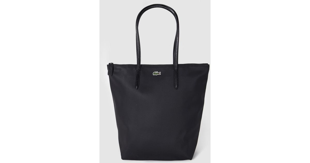 51505257e Lacoste Black Zip-up Tote Bag in Black - Lyst