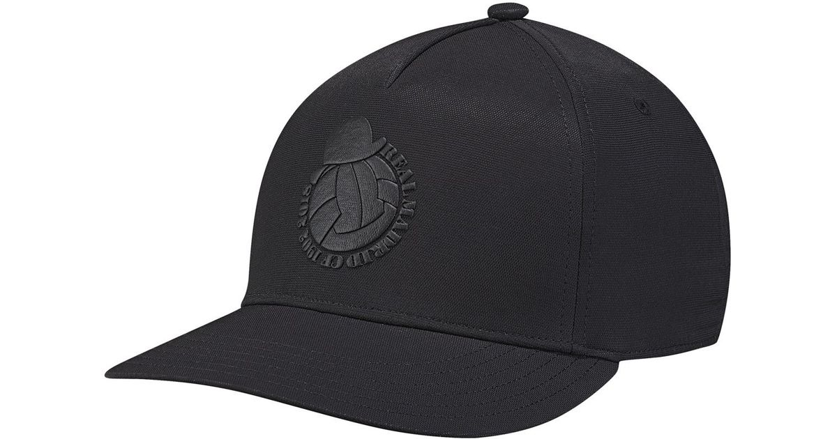 adidas Real Madrid Cf Cap in Black for Men - Lyst a79058f6807