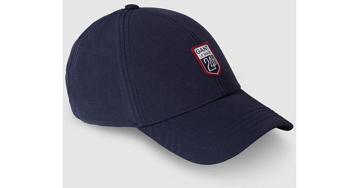 21f7f34c8bc ... cheapest gant mens navy blue baseball cap in blue for men lyst 6ca9c  5d980