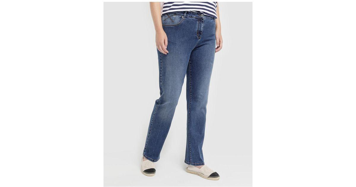 9fc48fa8de4ba3 Lyst - Couchel Plus Size Five-pocket Straight Jeans in Blue