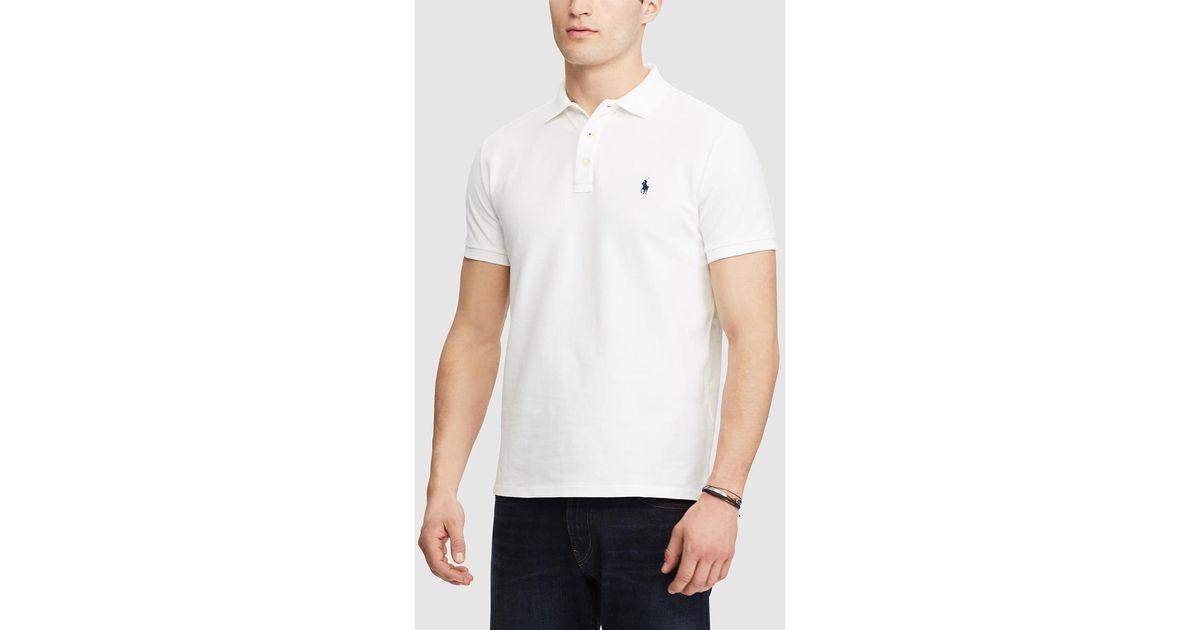 1f60f69b2eff Lyst - Polo Ralph Lauren White Short Sleeved Regular-fit Piqué Polo Shirt  in White for Men