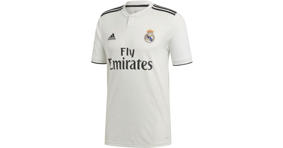 4999e6d2bee adidas Real Madrid Cf 2018-2019 Home Strip T-shirt in White for Men - Lyst