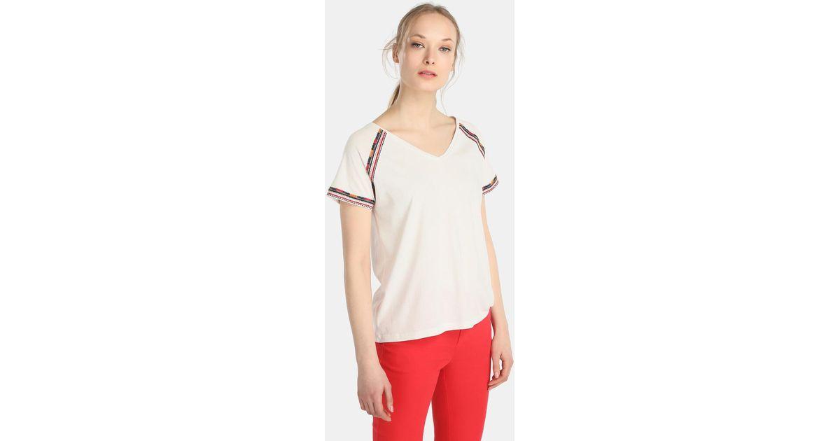 promo code dfe77 02b6e Zendra El Corte Inglés - El Corte Inglés Zendra White T-shirt With  Embroidery - Lyst
