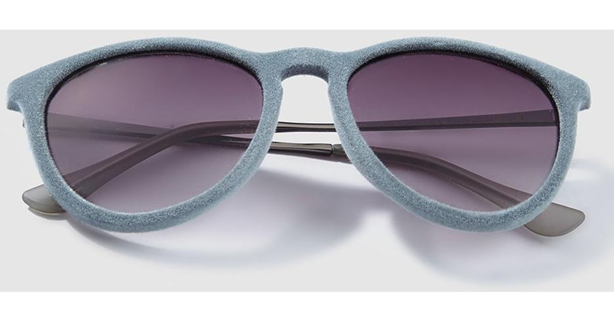 6d289b420da Green Coast Wo Grey Velvet Sunglasses in Gray - Lyst