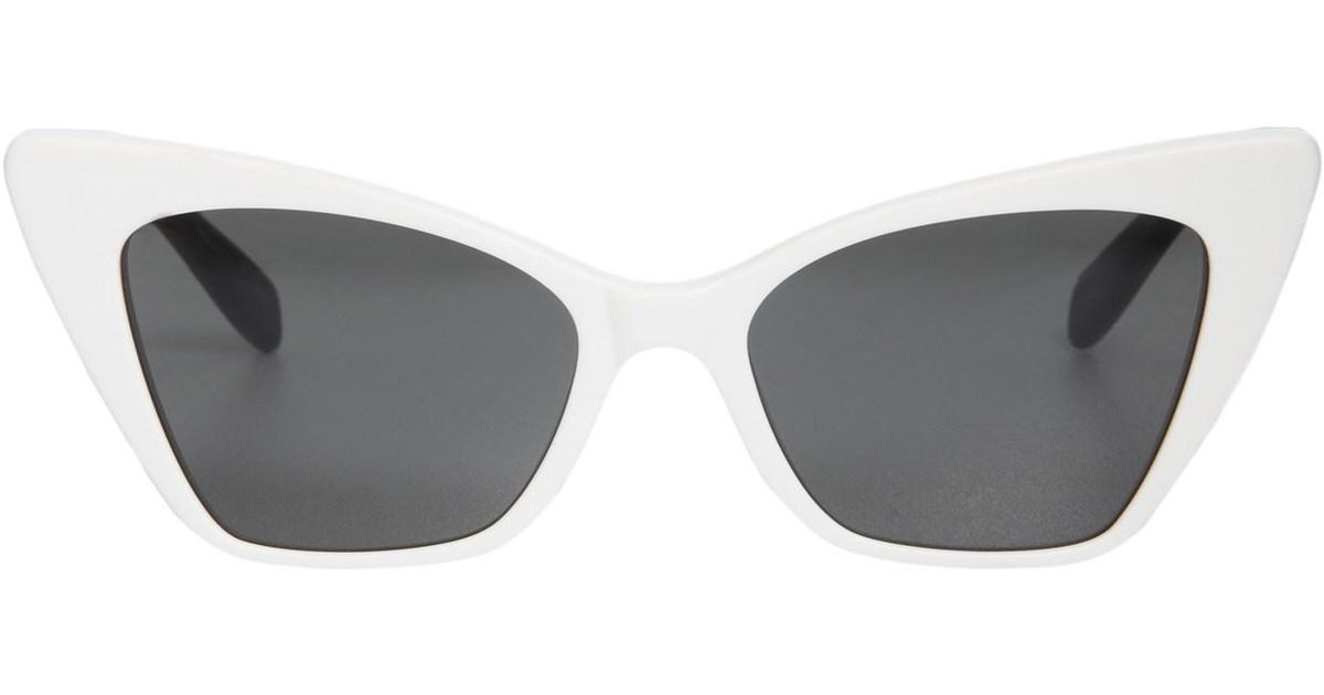 9d9cc338ebe Saint Laurent New Wave 244 Victoire Sunglasses in White - Lyst