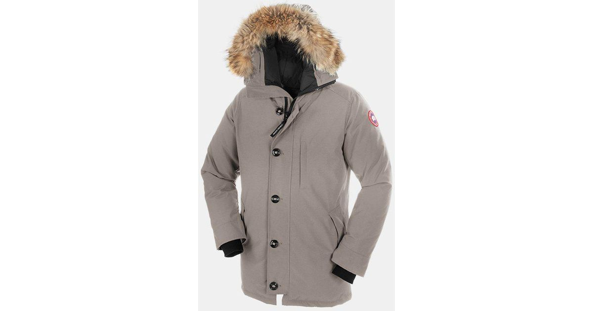 c7100ffd9a08 ... closeout lyst canada goose chateau parka in gray for men df5f5 156bf