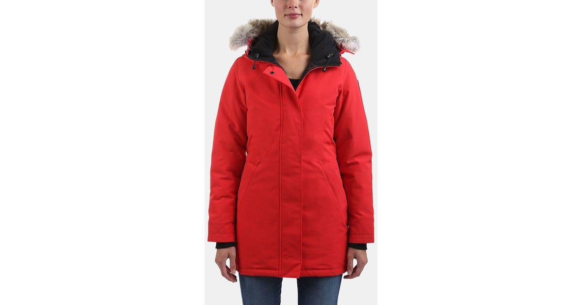 Lyst - Canada Goose Victoria Parka in Red f0ea197fe379