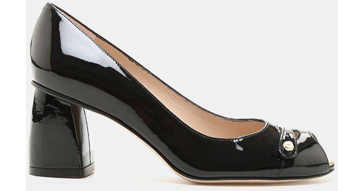 Stuart Weitzman Tabeta Patent Leather Peep-Toe Shoe (Women's) gJf04Mv