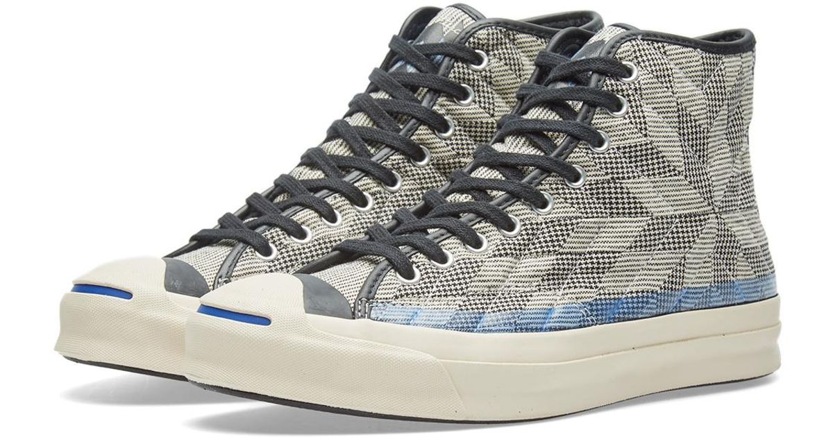 319629d284b2 Lyst - Converse Jack Purcell Signature Hi  quilt  in Blue for Men